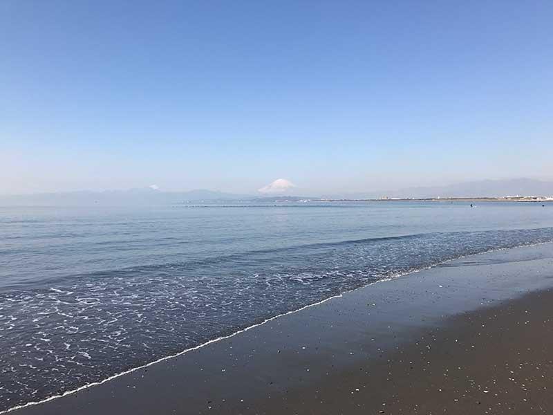 天気が良ければ富士山も見えます