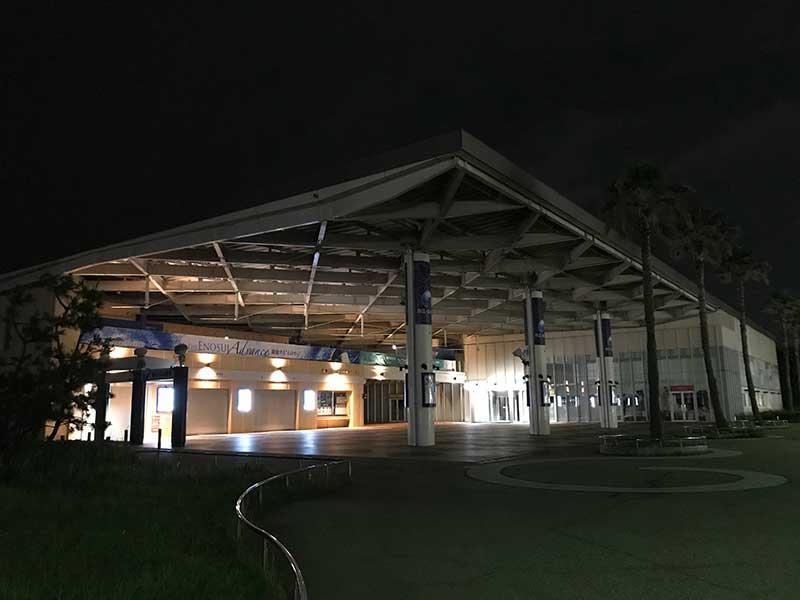 夜の新江ノ島水族館
