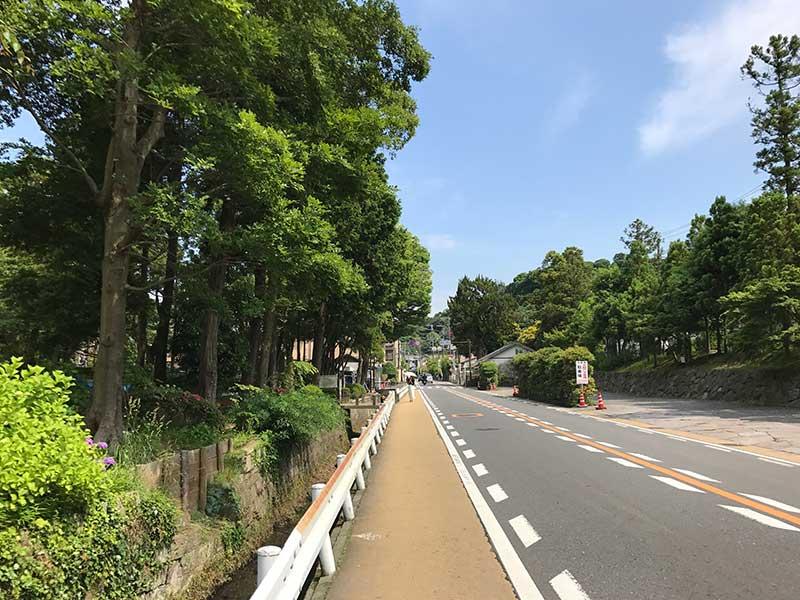 北鎌倉は道中も空いています