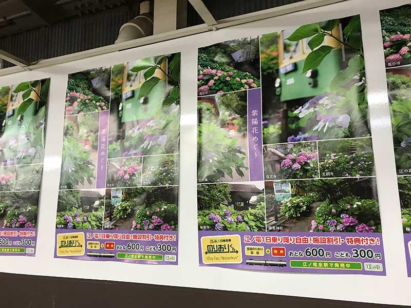 紫陽花を推すポスター