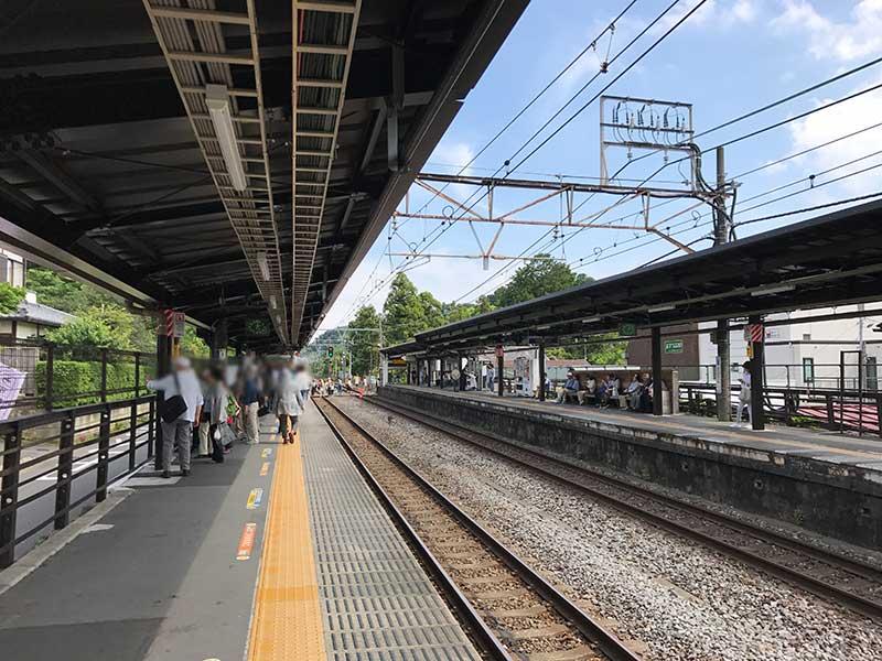 すっきり空いている北鎌倉の駅