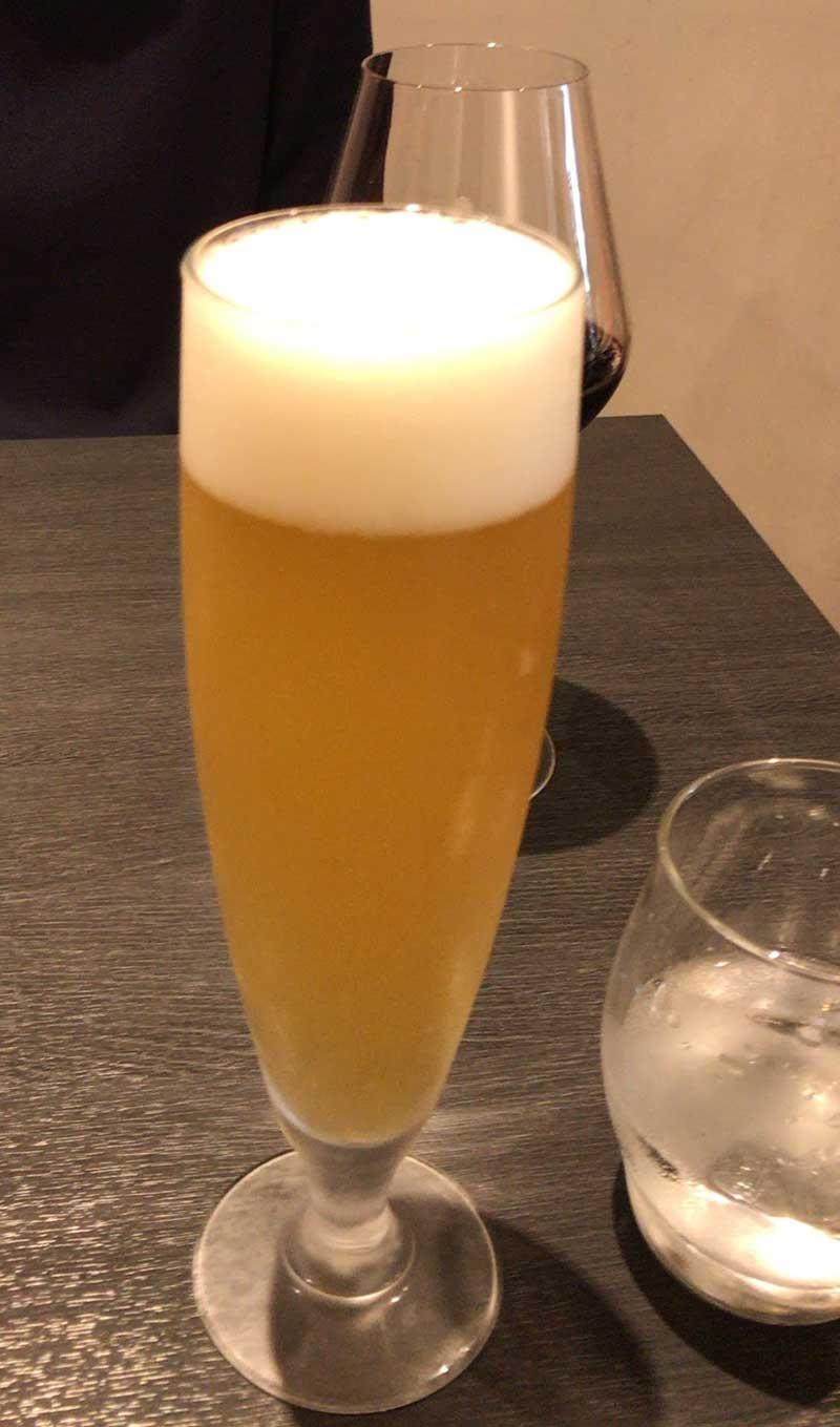 さわやかなリンゴのビール