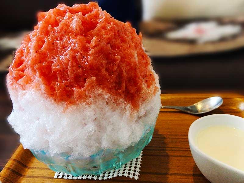 これが埜庵のいちごかき氷だ!