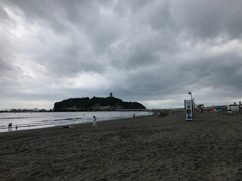 誰も居ない片瀬海岸東浜