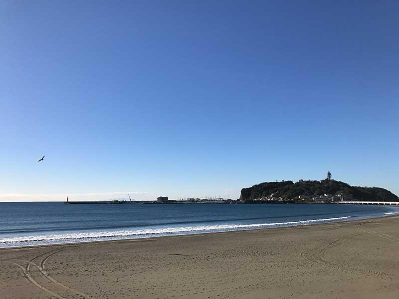 静かで快適な腰越海岸