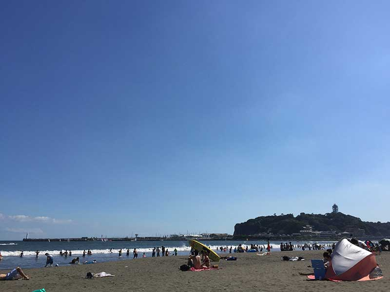 どこかのんびりとしたビーチ