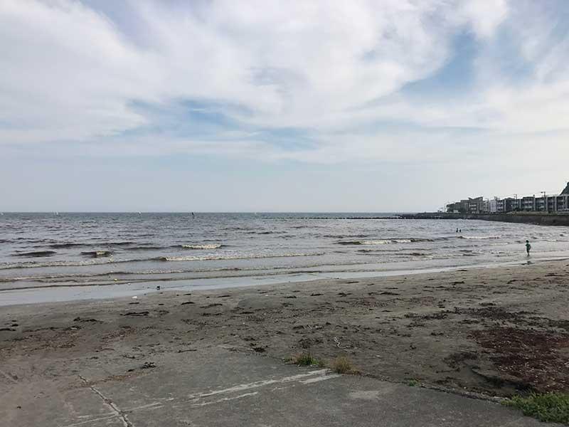 7月3日の由比ヶ浜は赤潮でした