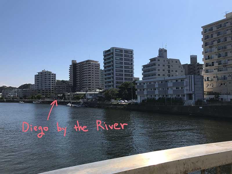 川沿いにある江ノ島グルメの代表選手DIEGO