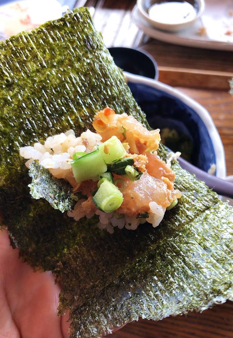 海苔でまきまき手巻き寿司風