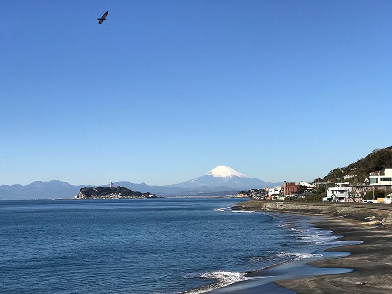 富士山と江ノ島がくっきり