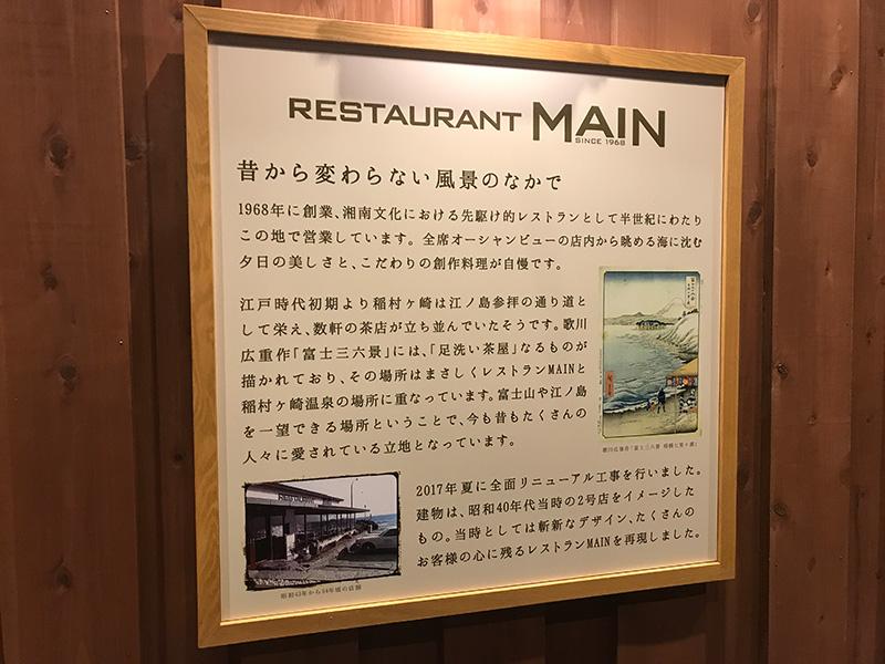 レストランMAINの歴史