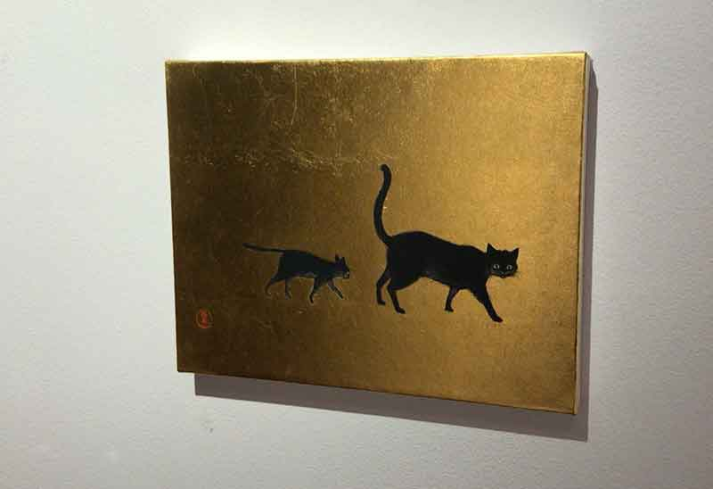 ギャラリーにも黒猫