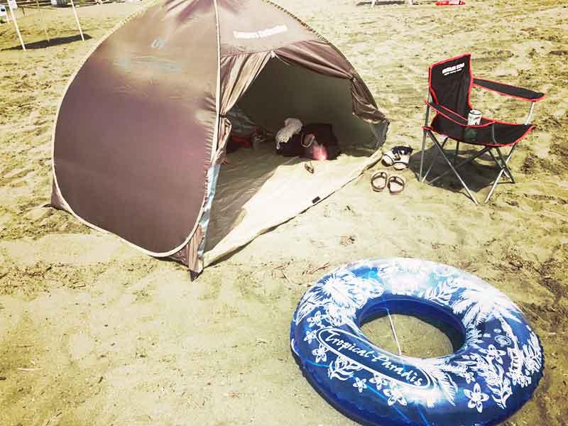 いつものビーチ3点セット