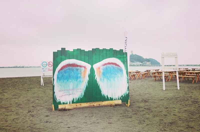 腰越海岸の天使の羽