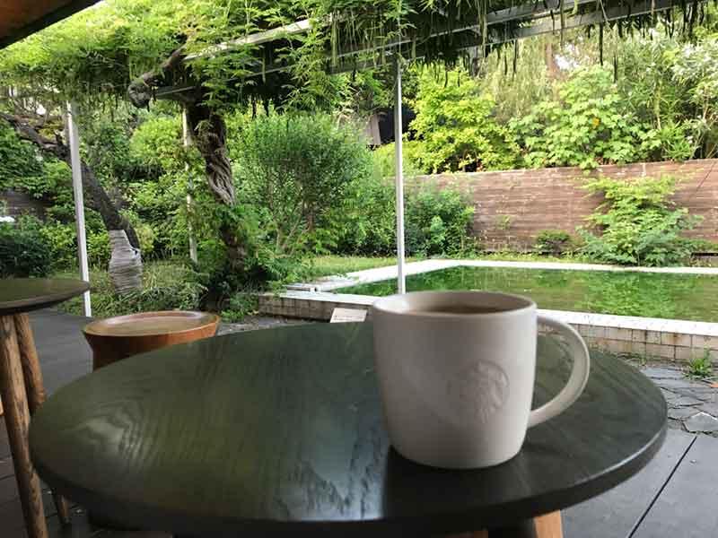 しっとりコーヒーをいただきます