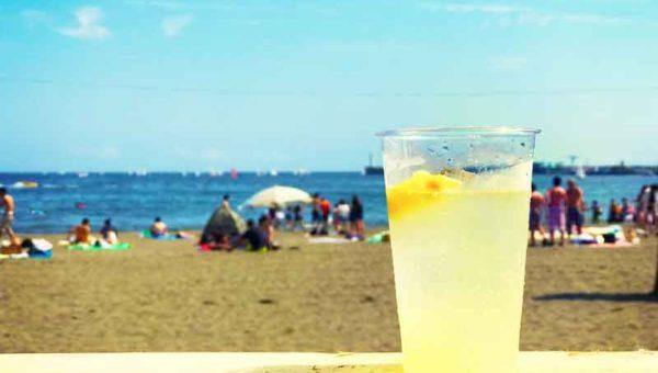 【江ノ島東浜海の家GYAO!】カフェ風ソファーで優雅にパクチー!ビジュアルとロケーション重視で味は微妙!