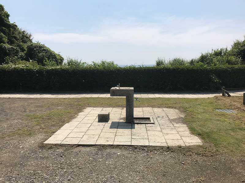 稲村ヶ崎公園には水飲み場も完備