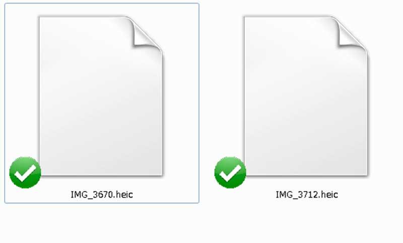 windowsパソコンで開くとサムネイル表示されない