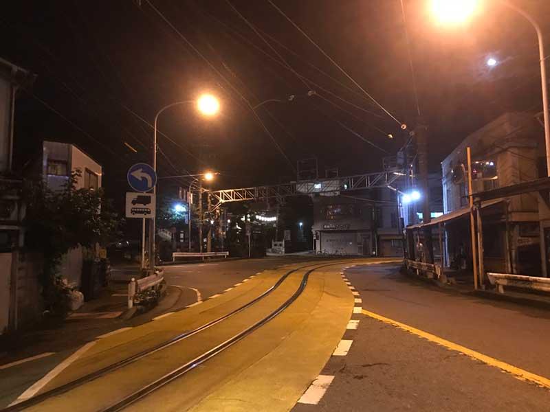 深夜の片瀬江ノ島