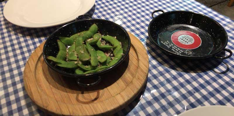 まずは焼き枝豆