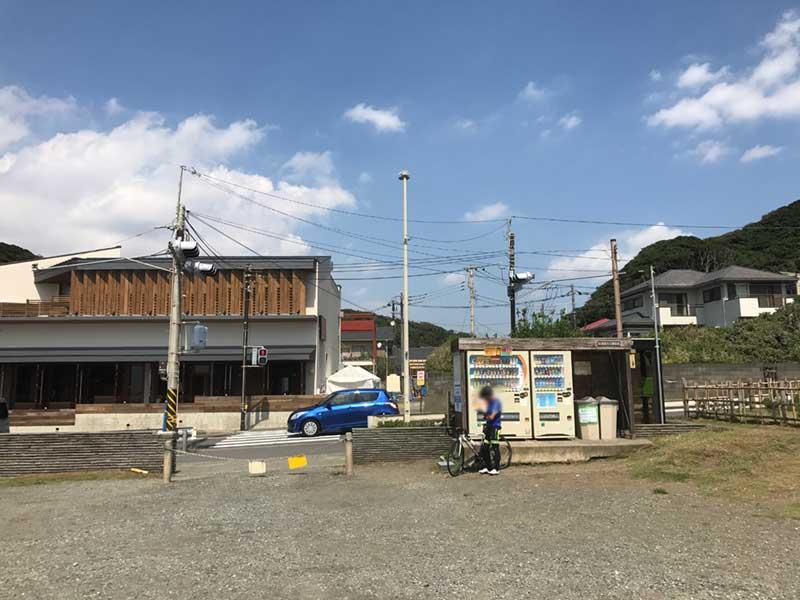稲村ヶ崎公園の入口にあるドリンクの自販機