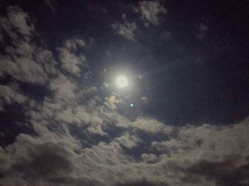 煌々と輝く月