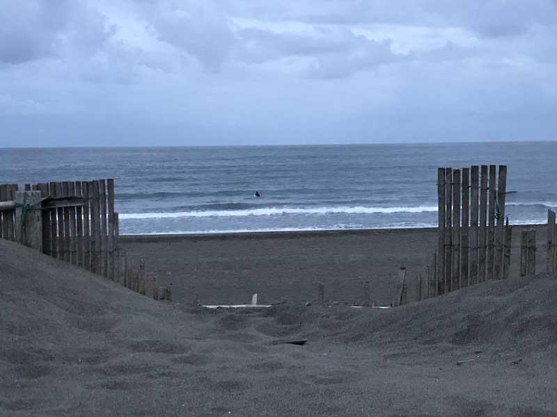 10月2日の辻堂海岸の様子