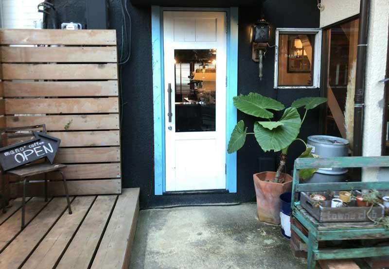 マーノプラスのカフェスペース入口