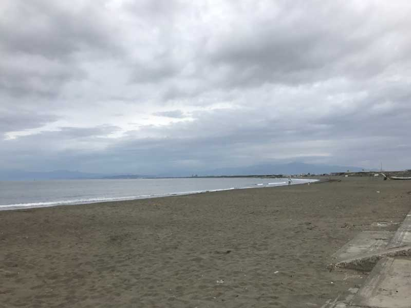 10月2日の鵠沼海岸