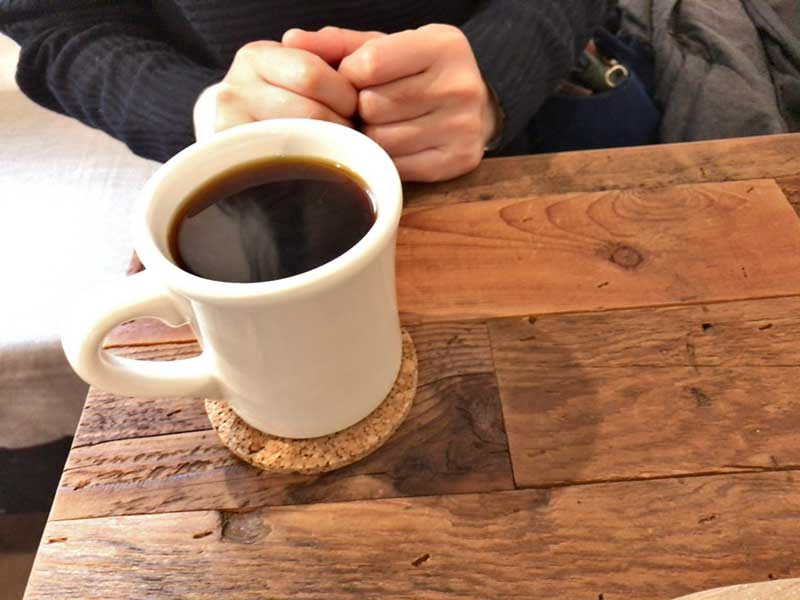 ハンドドリップのコーヒーでほっこり
