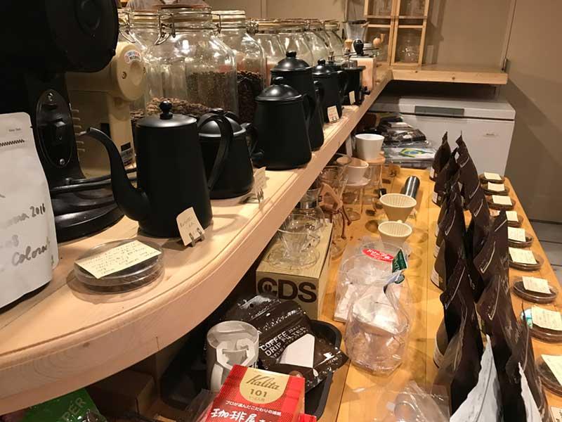 コーヒー関連アイテムがずらり
