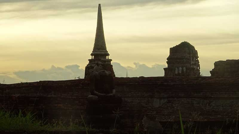 タイの有名な観光スポットアユタヤ遺跡