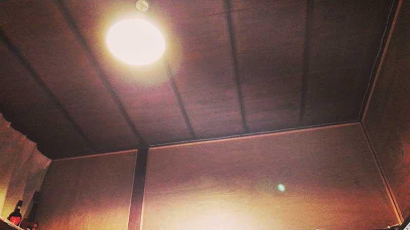 おもわずボーッと天井を眺めてしまう