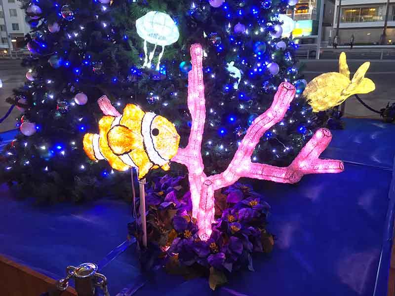 新江ノ島水族館で子供が喜ぶクリスマスイルミネーション「アクア・ツリー」開始