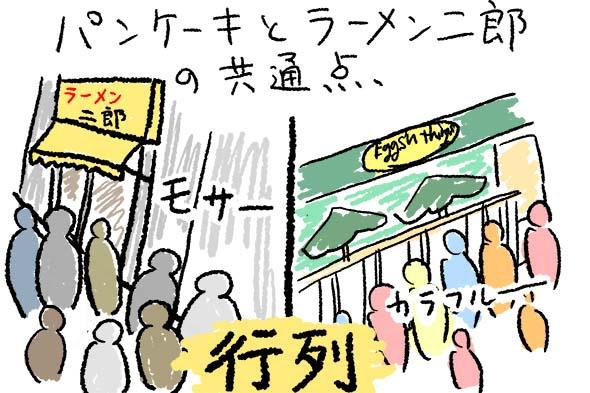 二郎系パンケーキ【エッグスンシングス】と【ラーメン二郎】の共通点
