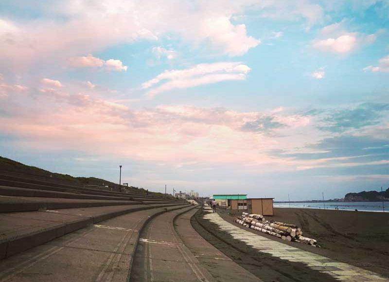 【湘南ノマドの仕事場#1】秋の鵠沼海岸で散歩ワーク。海と夕陽を眺めて思考の整理とリフレッシュ