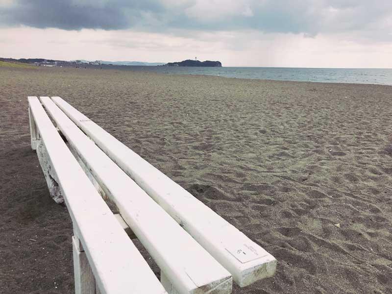 江ノ島と烏帽子岩が見られる穴場スポット