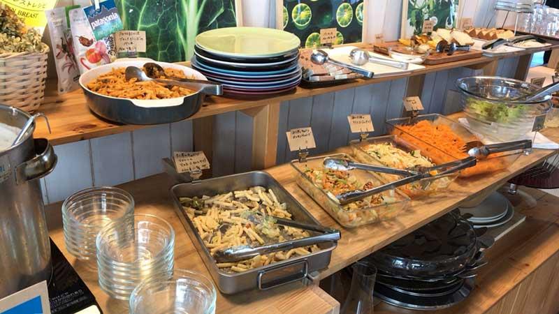 野菜中心のOginoの食べ放題メニュー
