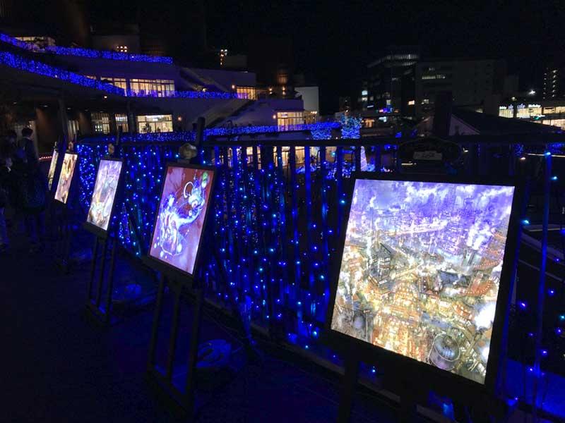 「えんとつ町のプペル」の41枚の絵が展示中