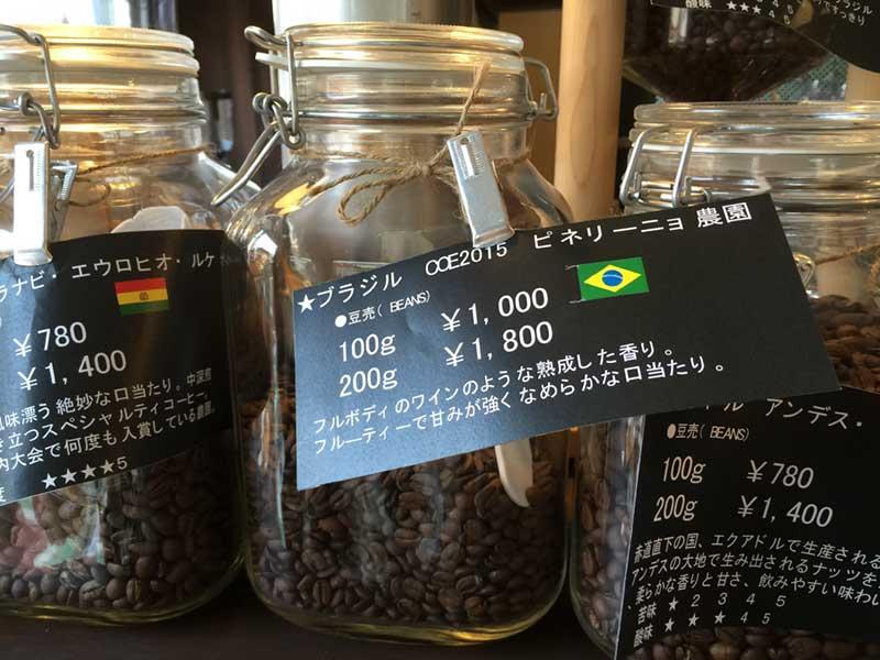 世界中の珈琲豆には細かい産地と味の解説が