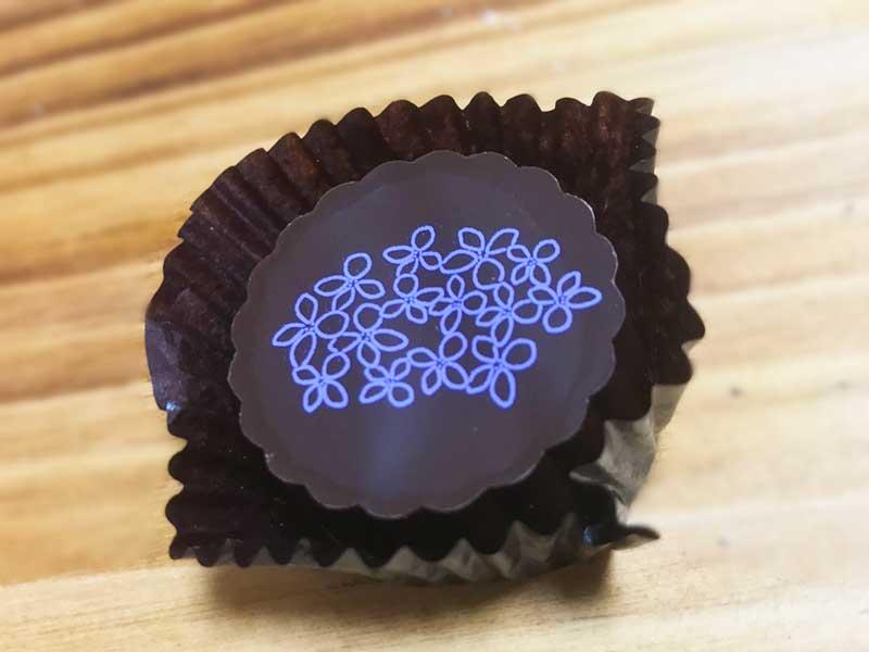 あじさいとブラックチョコレート