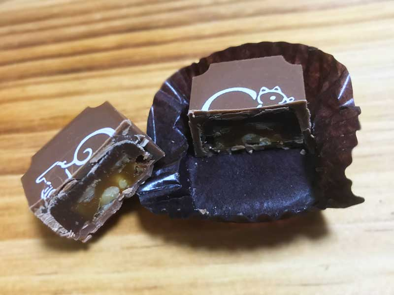 くるみの香ばしさとほろ苦さがチョコに合います