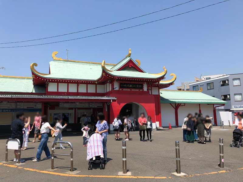 4月下旬の小田急線片瀬江ノ島駅