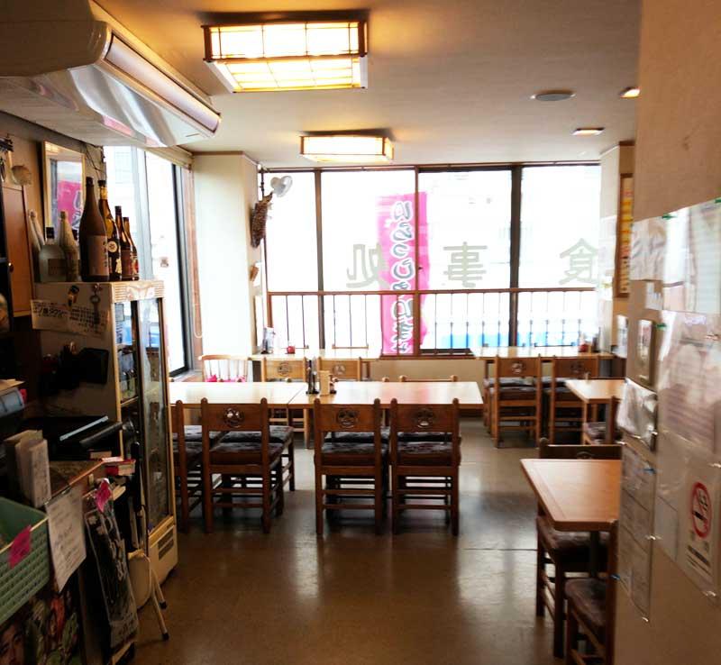 観光地の食堂