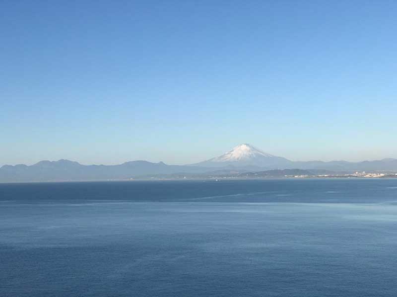 富士がくっきり見えます