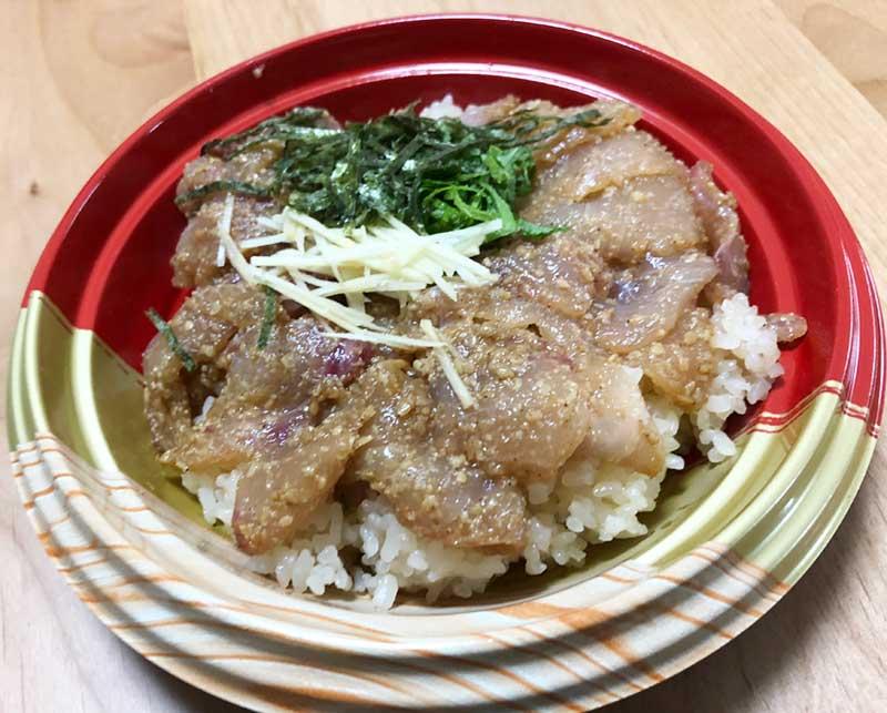地魚胡麻和え丼