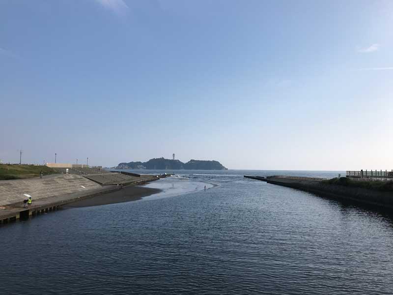 江ノ島の海へつながる河川