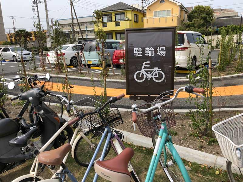 自転車置き場は満車