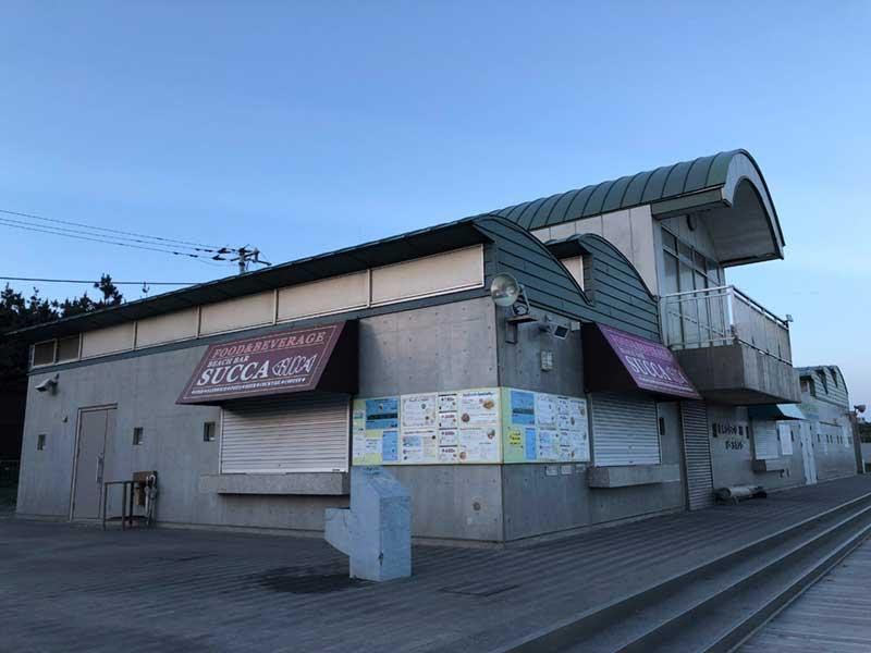 浜辺にある唯一の飲食店「BEACH BAR SUCCA」