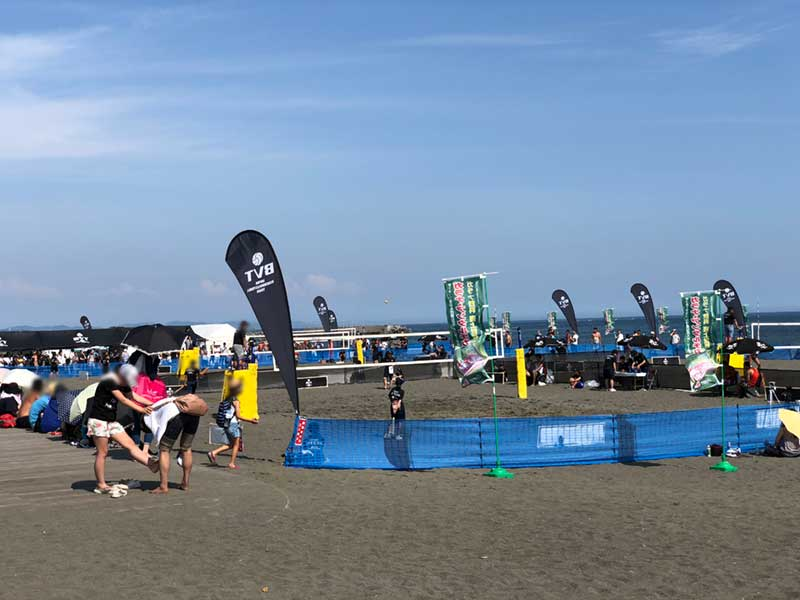盛り上がったビーチバレー大会